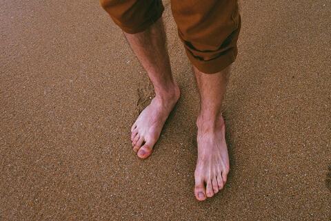 don't walk around barefoot