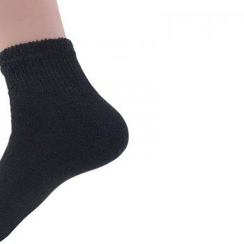 Men's Black Diabetic Ankle Socks - 12 Pairs
