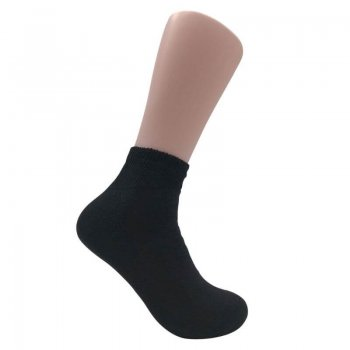 Men's Black Diabetic Ankle Socks - 12 Pairs