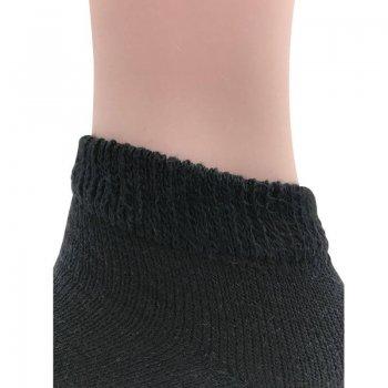 Men's Black Diabetic Low Cut Socks - 12 Pairs