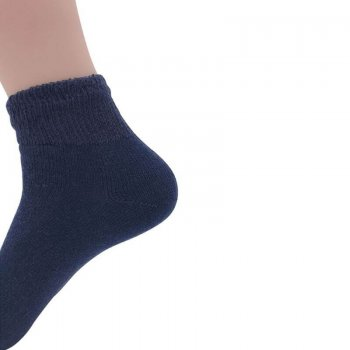 Men's Navy Diabetic Ankle Socks - 12 Pairs