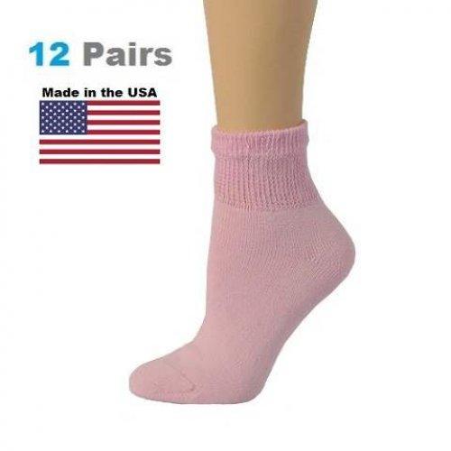 12 pairs Ladies womens Diabetic socks Non-Elastic cotton Swollen Ankles New