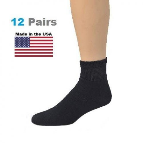 1d0ac88bf Women s Navy Diabetic Ankle Socks - 12 Pairs